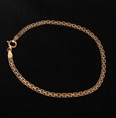 gold link bracelet. Gold Vermeil Link Bracelet